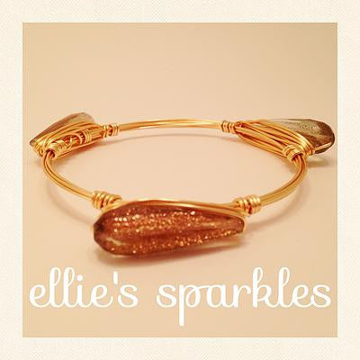 Golden Sparkle Teardrop Bangle