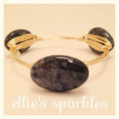 Grey Marbled Stone Bangle