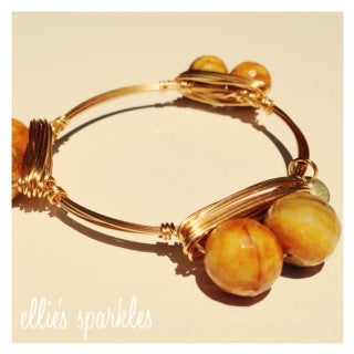 Yellow Double Agate Bangle