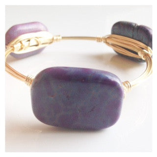 Purple/Blue Mixed Stone Bangle