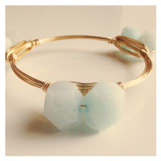 Ice Blue Jade Bangle