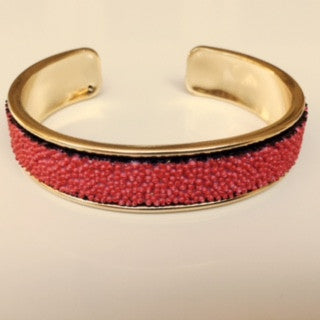 Coral Red Cluster Cuff