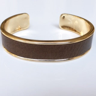 Bronze Leather Cuff