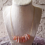 Summer Sunset Quartz Bar Necklace