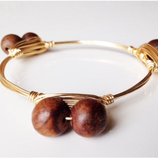 Double Wooden Bangle LIMITED QUANTITY