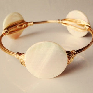 Small Pearlized Coin Bangle