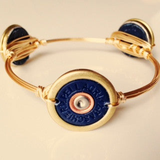 Navy/Gold Shotgun Shell Bangle