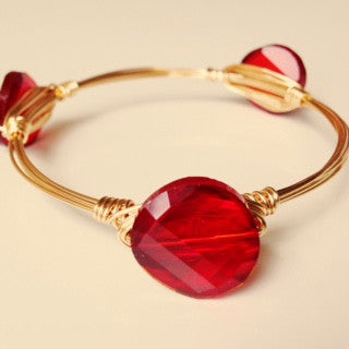 Red Crystal Coin Bangle