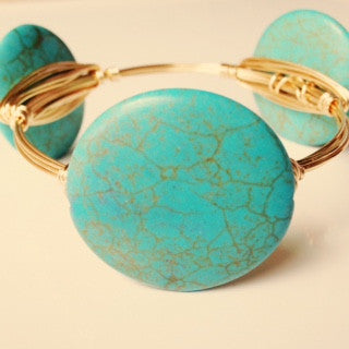 Large Turquoise Coin Bangle