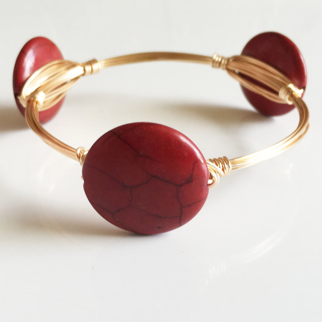 Red Coin Bangle