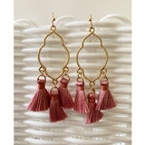 Blush Pink Chandelier Tassel Earrings