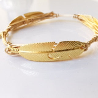 Feather (Gold) Bangle