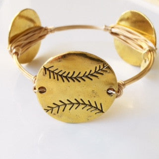 Baseball (Gold) Game Day Bangle