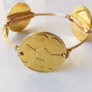 Soccer ball (Gold) Game Day Bangle