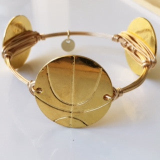 Basketball (Gold) Game Day Bangle