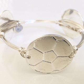 Soccer ball (Silver) Game Day Bangle