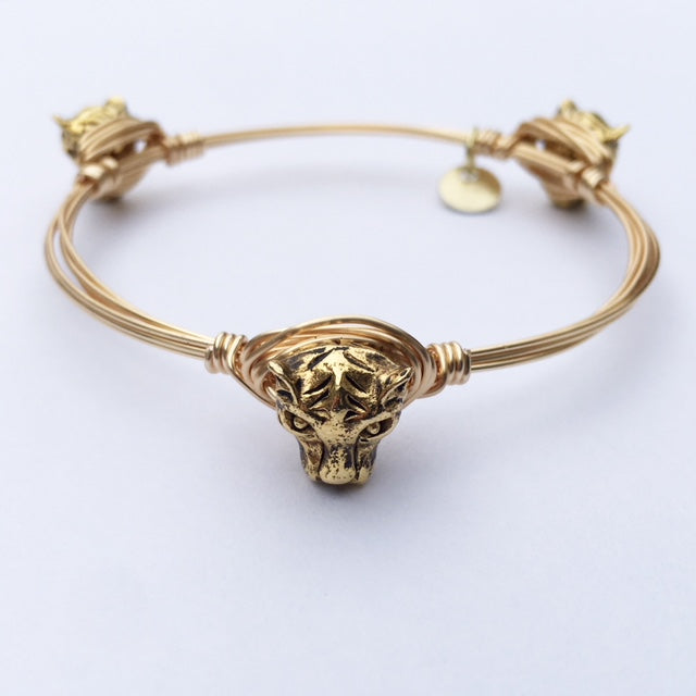 Gold Jaguar Bangle