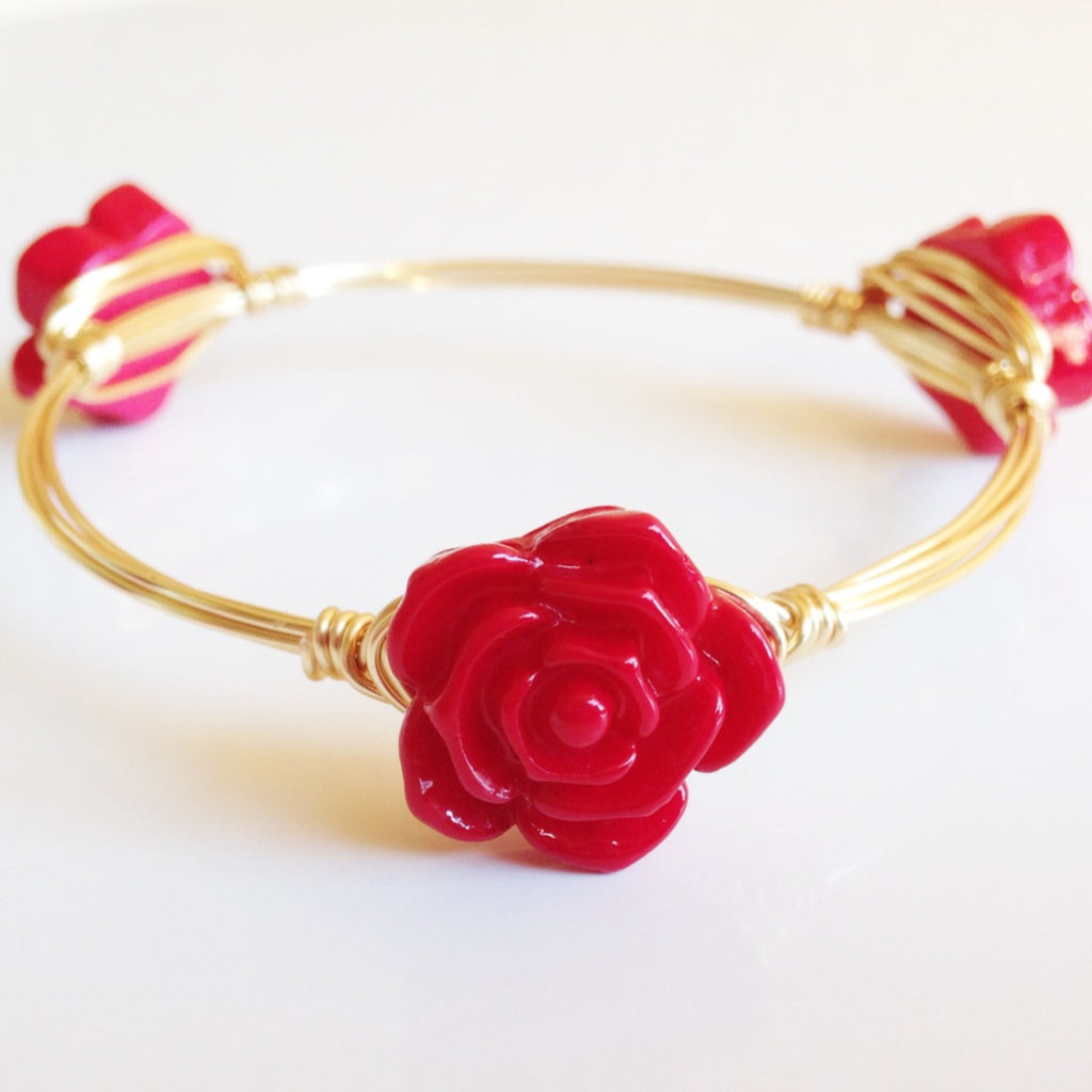 Red Flower Bangle