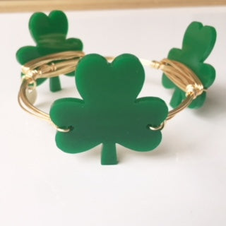 St. Patrick's Day Shamrock Bangle