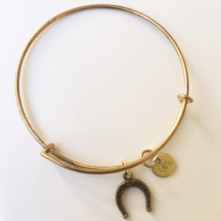Horseshoe Charm Bangle