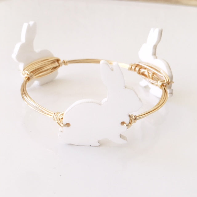White Bunny Bangle