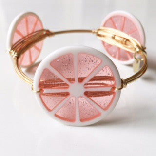 *Pink Fruit Slice Bangle