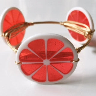 *Ruby Red Fruit Slice Bangle