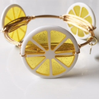 *Lemon Fruit Slice Bangle