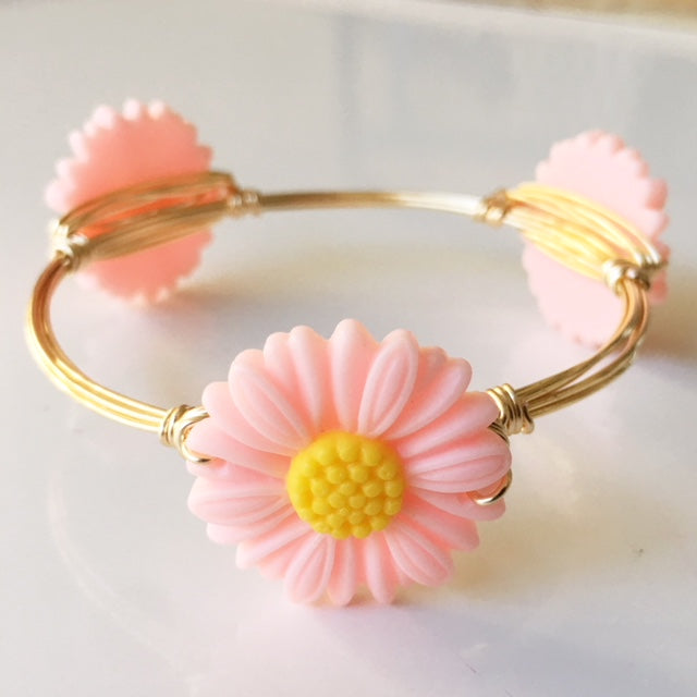 Pink Daisy Bangle