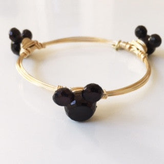 Mickey Inspired Bangle (Black Mini Mickey)
