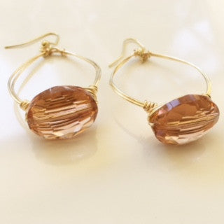 Customizable Jeweled Wire Wrapped Earrings