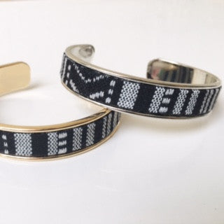 Black/White Tribal Cuff