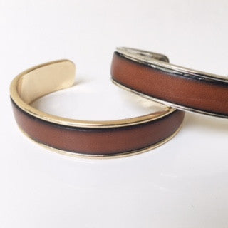 Cognac Leather Cuff