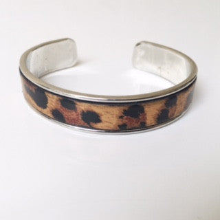 Leopard Leather Cuff
