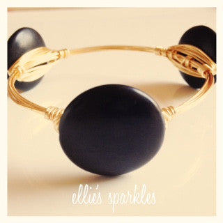 Black Coin Bangle
