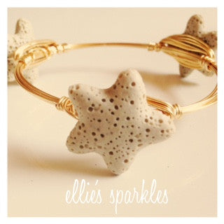 Beige Starfish Bangle
