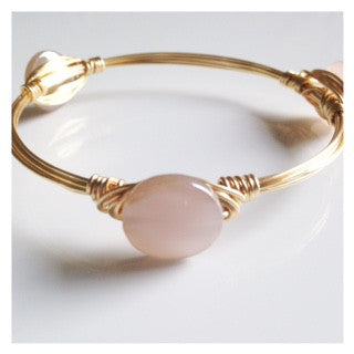 Dainty Blush Coin Bangle