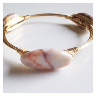 Cream Marbled Bangle