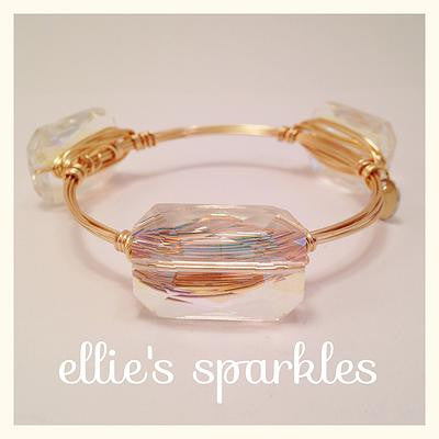 Iridescent Clear Rectangle Bangle