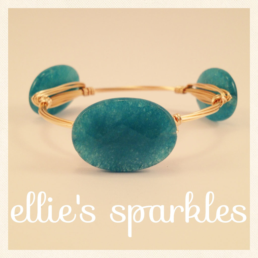 Light Blue Oval Bangle