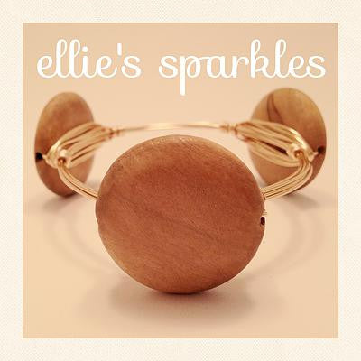 Light Wood Coin Bangle