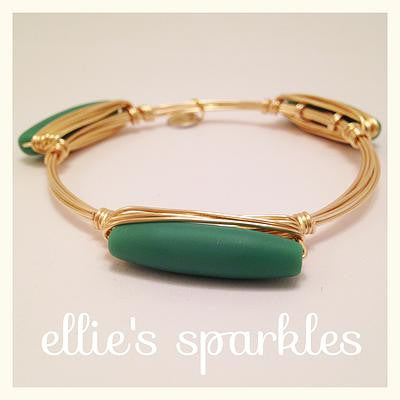 Matte Sea Foam Green Bangle