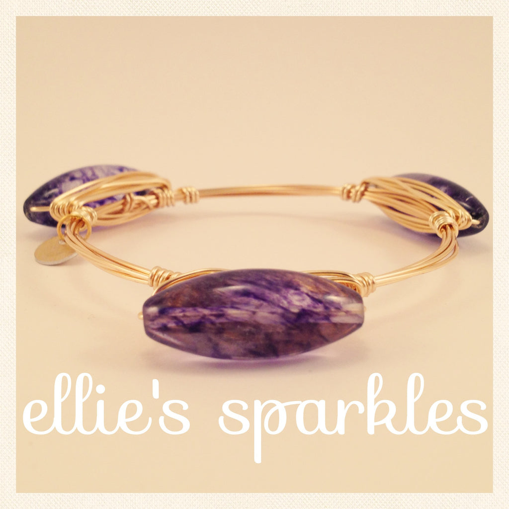 Mixed Purple Quartz Bangle