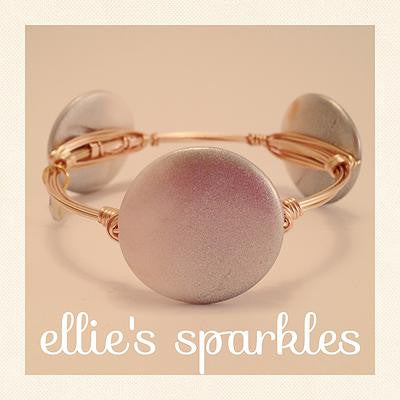 Ombre Pearl Coin Bangle