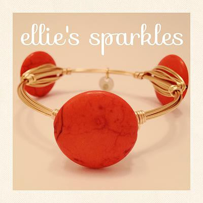 Orange Coin Bangle