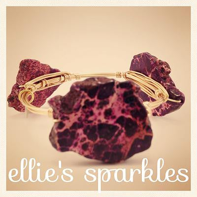 Purple Jasper Nugget Bangle