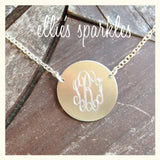 Short Monogrammed Necklace