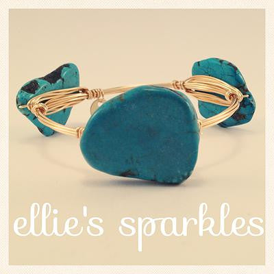 Turquoise Nugget Bangle