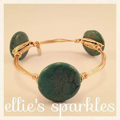 Turquoise Coin Bangle