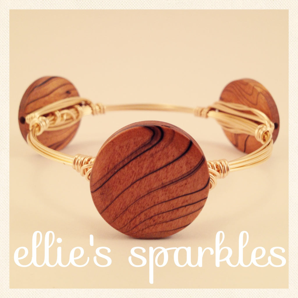 Wooden Coin Bangle